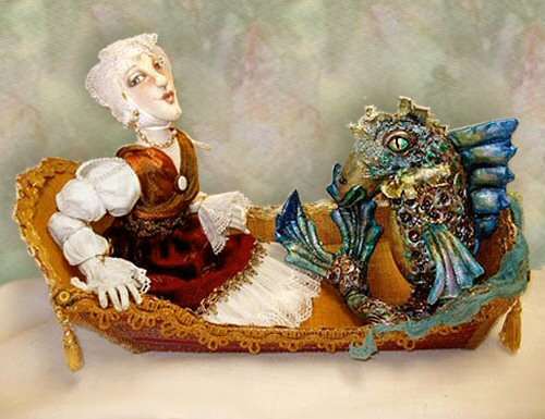 The Fishwife, a doll by Patti LaValley