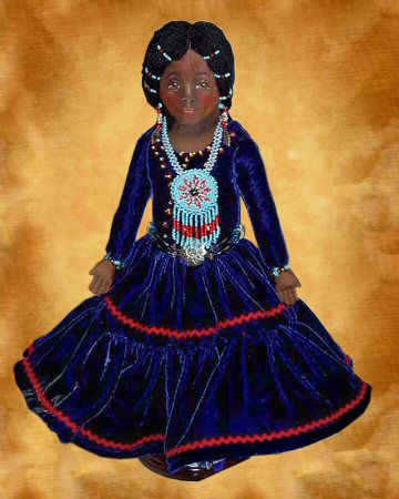 Halona, an American Indian doll by Patti LaValley