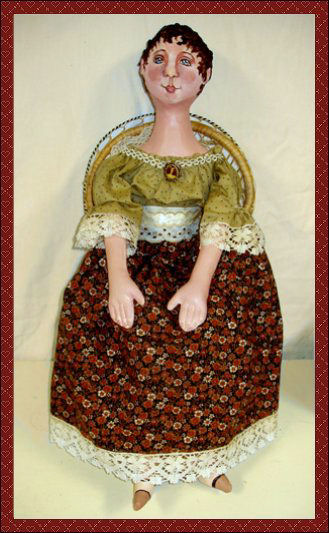 Holly Jean, a vintage-style doll by Patti LaValley