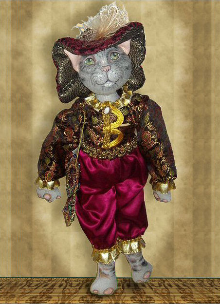 Dandy, a cat doll by Patti LaValley