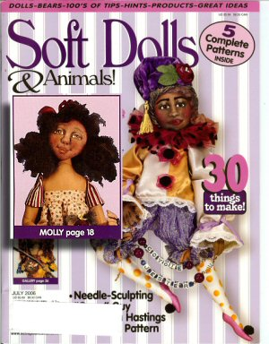 Molly on the cover of Soft Dolls and Animals! magazine